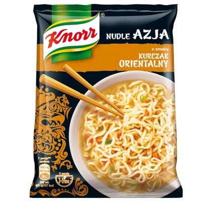 Azijietiški makaronai KNORR, vištienos skonio, 70 g