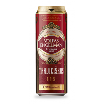 Alus VOLFAS ENGELMAN Tradiciškas 6,0%, 0,568 l