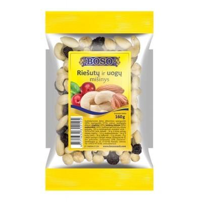 Riešutų ir vaisių mišinys BOSO, 160 g