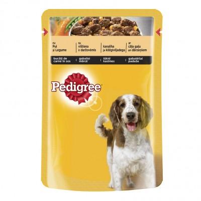 Guliašas šunims PEDIGREE su vištiena ir ėriena, 100 g