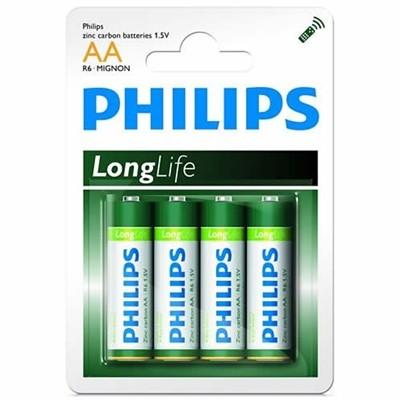 Elementai PHILIPS AAA LongLife 4 vnt.