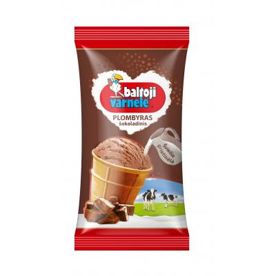 Ledai BALTOJI VARNELĖ šokoladinis plombyras, 120ml